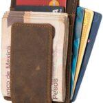 Vedicci Cartera de Piel con Clip Magnetico de Billetes para Caballero/Tarjetero para Hombre de Piel. Disponible en Color Crazy Horse, Negro, Cafe y Rojo.