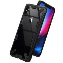 "Ringke Fusion-X Compatible con Funda iPhone XS MAX 6.5"" Ergonómico Transparente [Defensa Provista Caída Militar] Firme PC Back TPU Bumper Resistente Impactos Cover para iPhone XS MAX- Black"