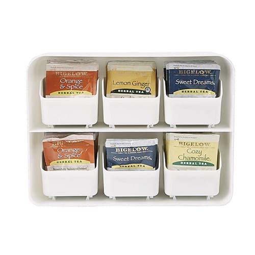 Mind Reader 'Clutch' 6 Drawer Tea Bag Holder, White
