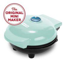 Dash Mini Maker: la mini máquina de hacer gofres para gofres individuales, paninis, hash browns, otros en los desplazamientos, desayuno, almuerzo o aperitivos, Agua (Aqua), 10 cm, 1