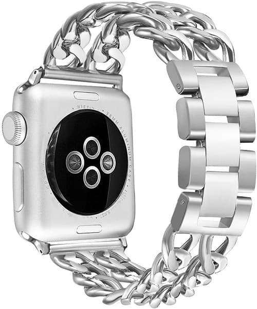 Secbolt Correa de Repuesto de Acero Inoxidable Compatible con Apple Watch de 38 mm y 40 mm iWatch Series 5, Series 4, Series 3, Series 2, Series 1, Sport, Edition,