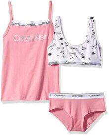 Calvin Klein - Brasier de 3 Piezas para niña
