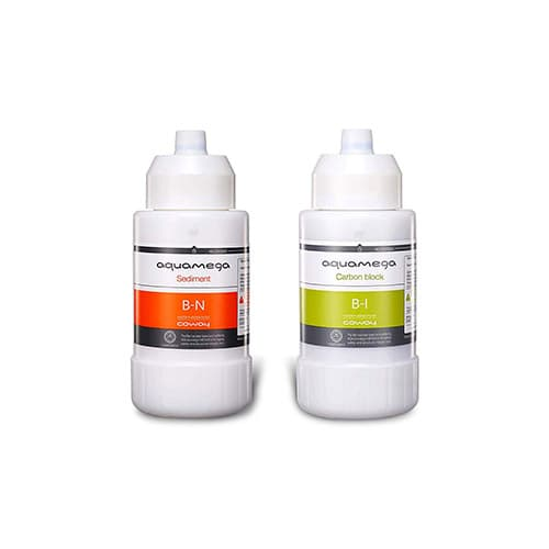 Coway Aquamega 200C - Juego de filtros de repuesto, tamaño pequeño, color blanco