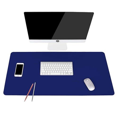 """YSAGi - Alfombrilla antideslizante para computadora de computadora, accesorios de computadora de oficina, computadora portátil, resistente al agua, de doble cara, protege el computadora para la decoración de la oficina y el hogar, Azul Royal, 35.4"""" x 17"""""""