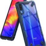 Ringke Fusion-X Diseñado para Funda Redmi Note 7 (Note 7 Pro), Protección Resistente Impactos Carcasa para Xiaomi Redmi Note 7, Note 7 Pro (2019) - Space Blue