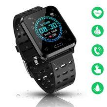 Uplayteck Smartwatch Reloj Deportivo, Reloj Inteligente IP67 Pulsera Actividad Inteligente con Pulsómetro, Monitor de Sueño, Podómetro, Calorías, Reloj Deportivo para Mujer Hombre