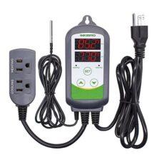 Inkbird ITC-308 Termostato Digital 2 Relés 110V Control la Temperatura Rango del Calefacción y Refrigeración para Fabricación de Cerveza, Incubadoras Reptiles, Acuarios