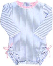 Ruffle Butts Traje de baño de una Pieza de Manga Larga para bebé/niña con protección Solar UPF 50+