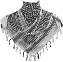 Kingree - Bufanda / shemagh táctica militar, 100% algodón, para el desierto, bufanda árabe