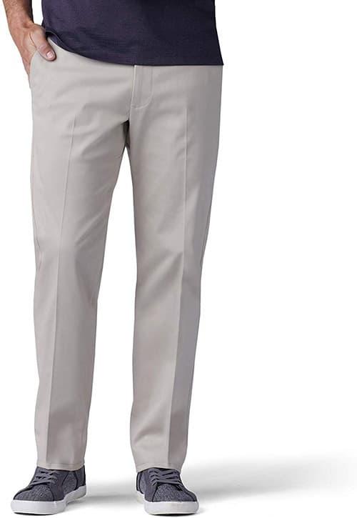 Lee Performance Series Pantalones Tri-Flex para Hombre, sin Plancha, Ajuste Relajado