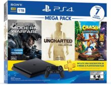 PlayStation 4 Mega Pack de 1TB con juegos Uncharted Collection, Call of Duty Modern Warfare, y Crash Bandicoot N'Sane Trilogy - Bundle Edition