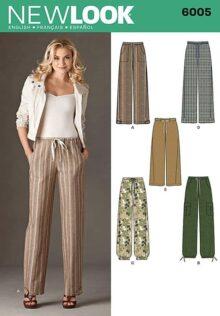 New Look Patterns 6005 - Patrones de Costura para Pantalones de Mujer, Talla A (10-12-14-16-18-20-22)