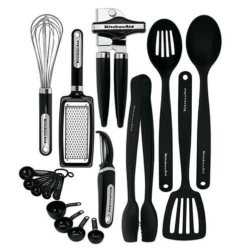 KitchenAid - Juego de herramientas y accesorios (15 piezas), color negro, Negro 17 piezas, Negro, Juego de 17 piezas, 1
