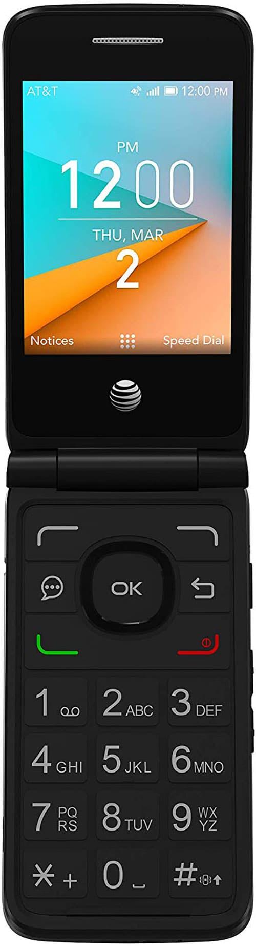 Prepaid AT&T Cingular Flip 2 - Teléfono prepago, Color Gris Oscuro, 4 GB, Gris