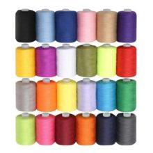 Hilo maquina coser/hilos overlock - 24 Pzas 1000 yardas hilo coser - hilo de algodón Colores Variados Brillantes - Set Grande hilo de poliester
