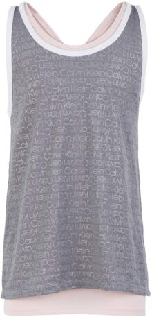 Calvin Klein Big Girl'S Performance Cross Back Tank Parte Superior Camisa para Mujer