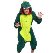 Plata Lilly Adultos Unisex Pijamas–Plush una Pieza Cosplay Dinosaurio Animal Costume