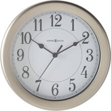 Howard Miller 625283 Reloj de Pared, Color Plateado, 8.50 x 8.50, Pack of/Paquete de 1