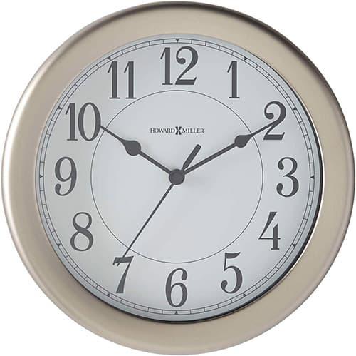 Howard Miller 625283 Reloj de Pared, Color Plateado, 8.50 x 8.50, Pack of/Paquete de 1