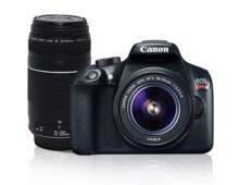 """Canon Cámara Digital EOS Rebel T6 combo lente 18-55mm + lente EF 75-300mm, Sensor CMOS, 18 Mp, Pantalla LCD de 3"""", Wi-Fi"""