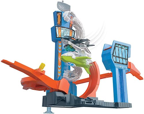 Hot Wheels City, Aeropuerto Giratorio, Set de Juego, Vehículos, Auto de Juguete