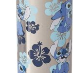 Disney Silver Buffalo LI111595 Lilo and Stich Vaso de Pared Doble para Agua, Cara de Stich