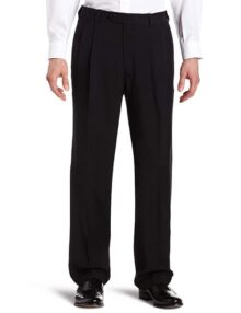 Haggar ECLO Stria pantalón de Vestir para Hombre, Cintura Extensible, Plisado