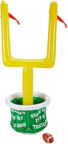 "Beistle 50083 - Enfriador de postes hinchable con balón de fútbol para fiestas, 1 pieza, Verde/Blanco/Amarillo/Rojo, 28"" x 74"", 1"
