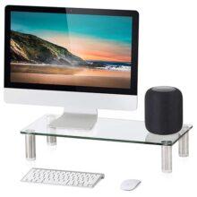 FITUEYES Cristal Elevador del monitor Soporte del Computador Portátil Claro DT105001GC