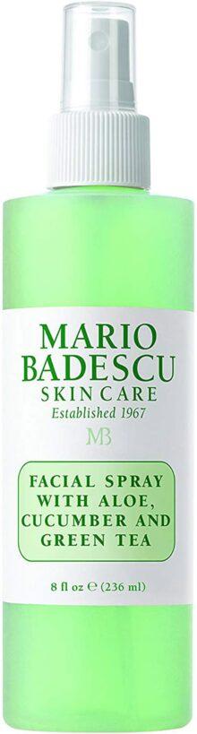 Mario Badescuo Aerosol facial para el cuidado de la piel, con aloe, pepino y té verde, 0.22 kg
