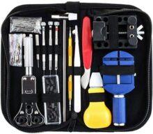 147 en 1 Kit de Reparación Relojes, Reloj de Reparación de Herramientas para Barra de Resorte, Kit de Herramientas de Reemplazo de la Batería del Relojo, Varios Accesorios