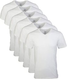 Gildan Men 's Cuello en V Camisetas Paquete de 6