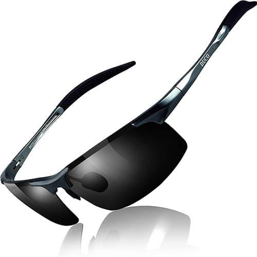 DUCO Gafas de Sol Deportivas de Hombre Polarizadas con Protección UV 8177S