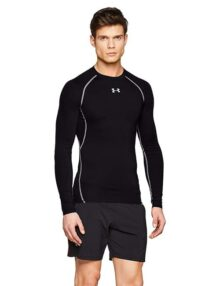 Under Armour Playera Manga Larga para Ejercicio y Acondicionamiento Físico HeatGear Armour Compression para Hombre