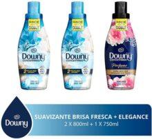Downy Downy Brisa Fresca Suavizante De Telas 1.6 L + Black Elegance 750 Ml, color, 1 count, pack of/paquete de