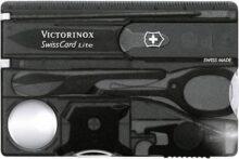 Victorinox Swiss Card Lite con 13 Usos, carbón transparente