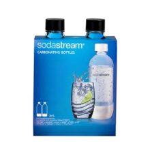 SodaStream 1-Liter Carbonating Bottle, Black, 2-Pack