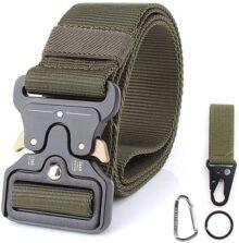 CoWalkers Cinturón táctico de, Estilo Militar Correa de Cintura de Nylon de Alta Resistencia Cinturón de Servicio Pesado con Hebilla de Metal de liberación rápida para Hombres y Mujeres
