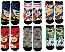 DC Comics - Calcetines para niños pequeños o pequeños de la Liga de la Justicia (6 unidades)