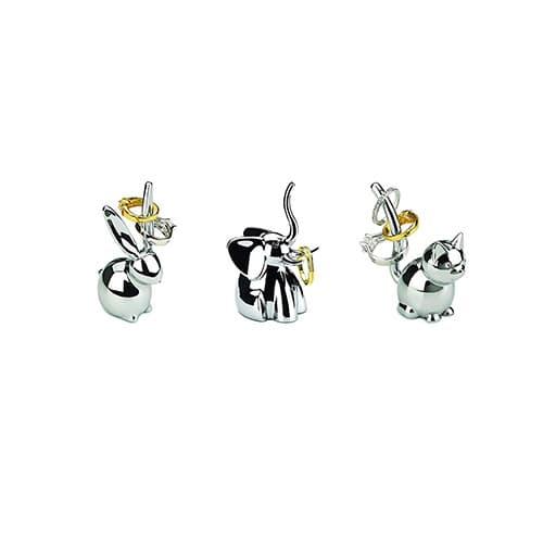 Umbra Set of Three (Zoola Ring Holders), Chrome
