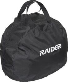 Raider BCS-8B Deluxe - Bolsa para Casco de Motocicleta MX de Nailon, Color Negro