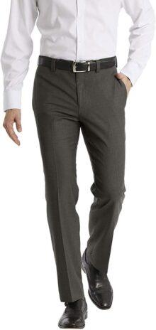 Calvin Klein pantalón de Vestir para Hombre, Ajuste Moderno, Frente Plano, Rendimiento