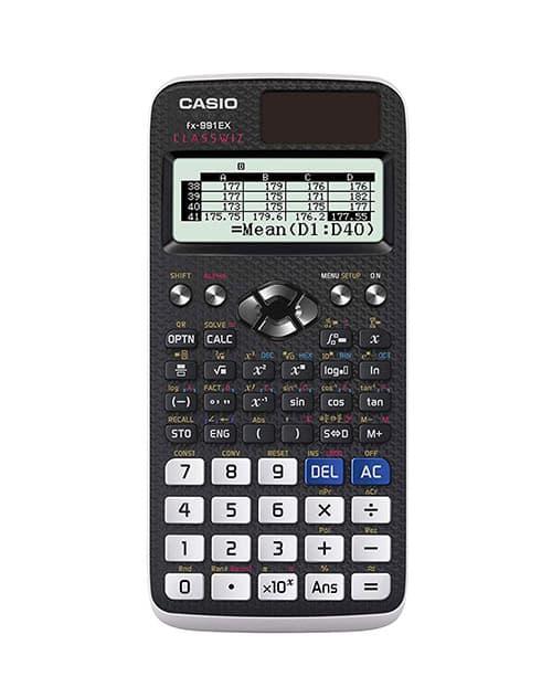Casio FX-991EX ingeniería/calculadora científica, negro