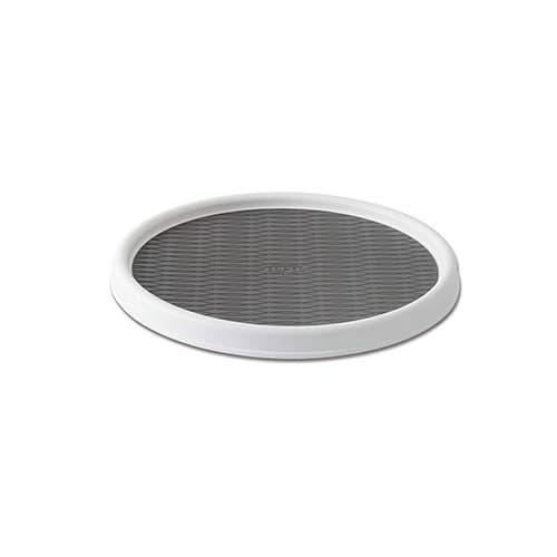 """Copco 2555-0191 - Mesa giratoria antideslizante de 9 pulgadas, color blanco y gris, 12"""" (30 cm), Blanco/Gris, 30.48 cm (12 pulgadas), 1"""