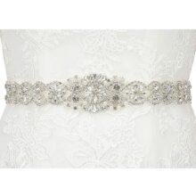 HDE - Cinturón de cristales para novia, diseño de diamantes de imitación