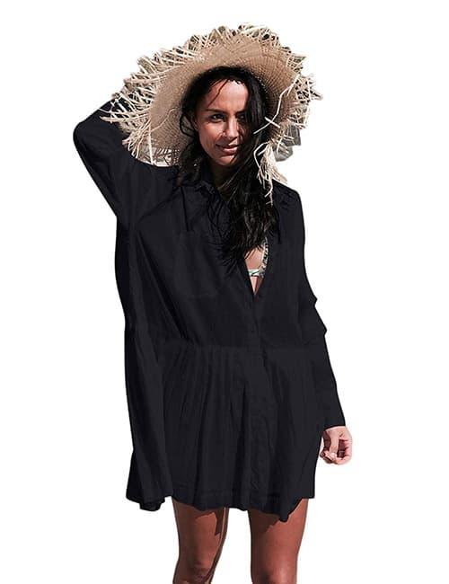 Bsubseach Mujer Vestido de Playa Verano Bordado Cubrir Bikini Camisola y Pareos Cover up