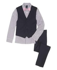 Izod Boys' 4-Piece Set with Dress Shirt, Bow Tie, Pants, and Vest
