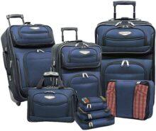 Travelers Choice Amsterdam Ii - Juego de maletas (8 piezas), Marino, Una talla