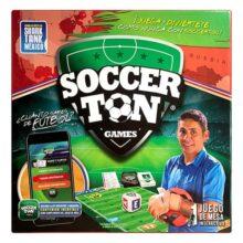 Soccerton Games Juego de Mesa, Trivia de Futbol con Realidad Aumentada (2 - 6 Jugadores), Edición Limitada Jorge Campos