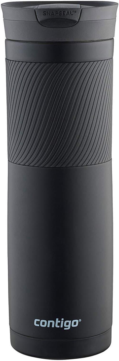 """Contigo Snapseal Byron - Taza térmica de acero inoxidable, negro mate, 3.25"""" x 9.60"""" (8.3 x 24.4 cm)"""